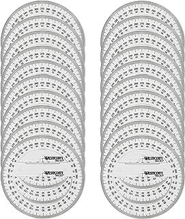 Westcott e-10135 00-i rapporteur 360° à 360°, plastique, 10, 20 cm pièces, transparent