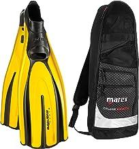 Mares Italian Design Avanti Tre Full Foot Fin with Cruise Snorkel Gear Bag, 38-YL