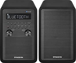 Sangean WR-50P FM-RBDS/AM/Bluetooth Wood Cabinet Table Top Stereo Digital Receiver System