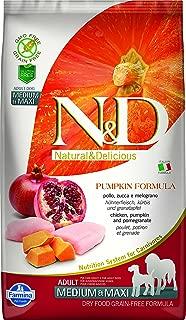 Farmina N&D Grain Free Pumpkin Chicken and Pomegranate Adult Food, 12 kg (Medium and Maxi)