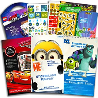 Stickers for Boys Toddlers Super Set ~ 6 Toddler Sticker Books with 1790 Licensed Stickers on 48 Sheets Featuring Paw Patr...