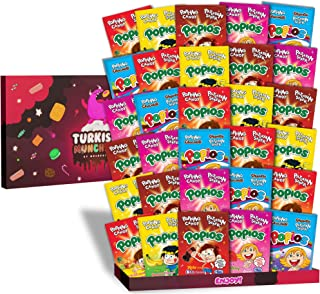 Maxi 30s 5-Flavor Popping Candy International Snacks Variety Pack Care Package, Ultimate Assortment of Turkish Popping Candy, Best Foreign Candy or Foreign Popping Candy Snacks Box
