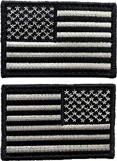 """حزمة uuKen 2 قطعة التكتيكي الولايات المتحدة الأمريكية التصحيح 3 """"× 2"""" - شارة يد مطرزة العلم الأمريكي الولايات المتحدة الأم..."""