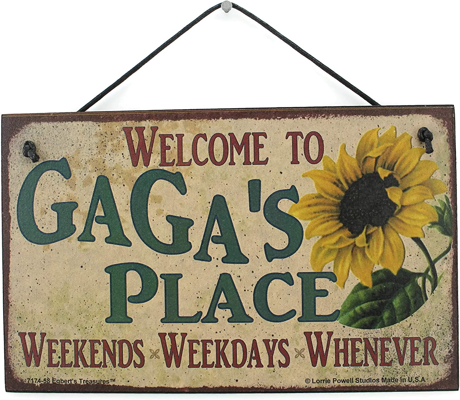 San Francisco Mall Egbert's Treasures 5x8 Vintage Super Special SALE held Style Sign with Sunflower Saying