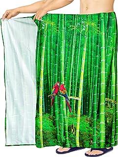 LA LEELA Traje de baño Traje de baño los Hombres Sarong Hawaiano Pareo de Trajes de baño Ropa de Playa Envoltura Verde