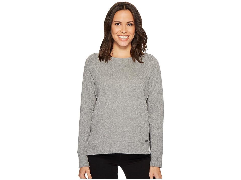 Ivanka Trump Knit Long Sleeve Strap Side Pullover (Heather Grey) Women's Long Sleeve Pullover, Gray
