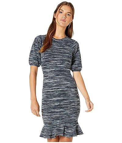 Milly Spacedye Poof Sleeve Dress (Neutral Multi) Women
