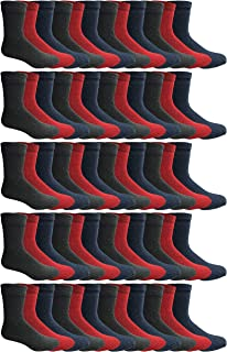 180 Pairs Case of Thermal Socks, Bulk Pack Thick Warm Winter Boot Sock, Extreme Weather, by Excell