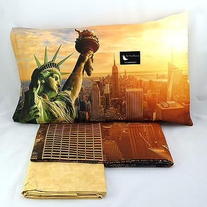 Bassetti Imagine Completo Letto Copripiumino 100 Cotone Stampa Digitale Art Ny Frame Matrimoniale 250x200 Amazon It Casa E Cucina