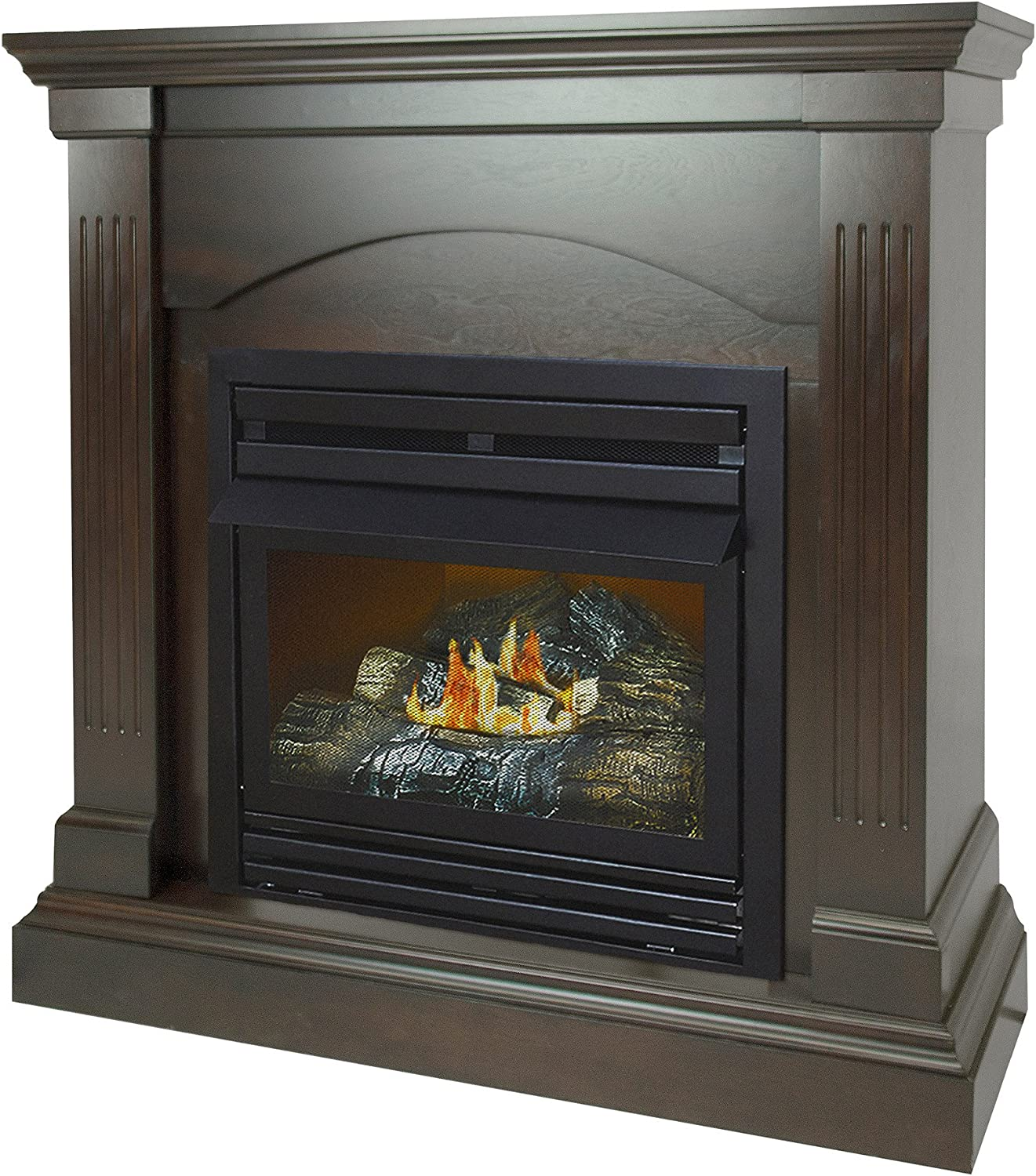 Max 59% OFF Pleasant Hearth 36 Compact Tobacco Vent Firepla Gas Free Sales for sale Natural