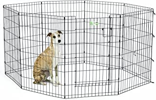(90cm , Black) - MidWest Homes for Pets MaxxLock Exercise Pen for Pets