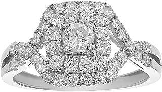 1 CT Diamond Criss-Cross Wedding Engagement Ring 14K White Gold