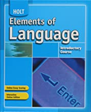 Elements of Language: Student Edition Introductory Course 2007