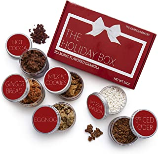 Granola Bakery - Holiday Food Gift Basket, Gourmet Healthy Gluten Free Seasonal Granola, Unique Last Minute Christmas Gift Boxes for Women, Men, Mom, and Families