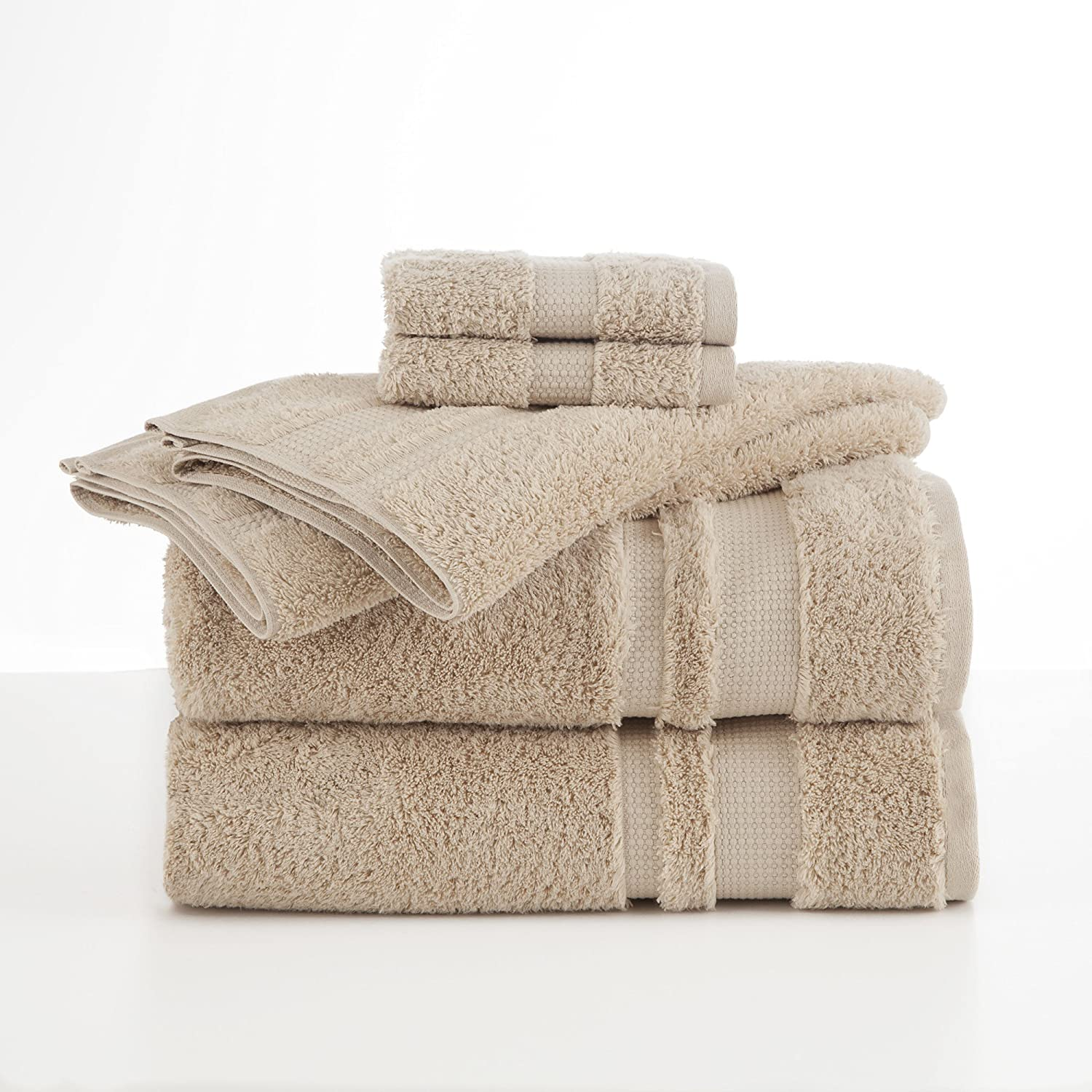 Martex 6 Piece Supima Sand Luxe Quality inspection Safety and trust Set Towel