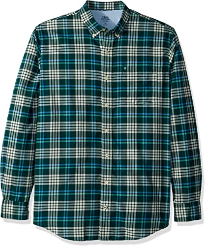 IZOD Hommes's Big and Tall manche longue Oxford Plaid Shirt, Dark Botanical, grand