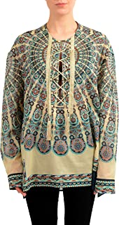 Collection Multi-Color Long Sleeve Women's Tunic Blouse US S IT 40