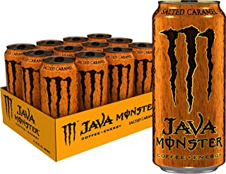 Monster Energy Java Monster Salted Caramel, Coffee + Energy Drink, 15 Ounce (Pack of 12)
