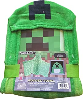 Minecraft Creeper Hooded Bath Towel