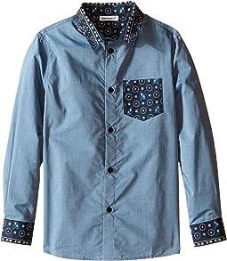 Contrast Collar/Pocket Shirt (Toddler/Little Kids)