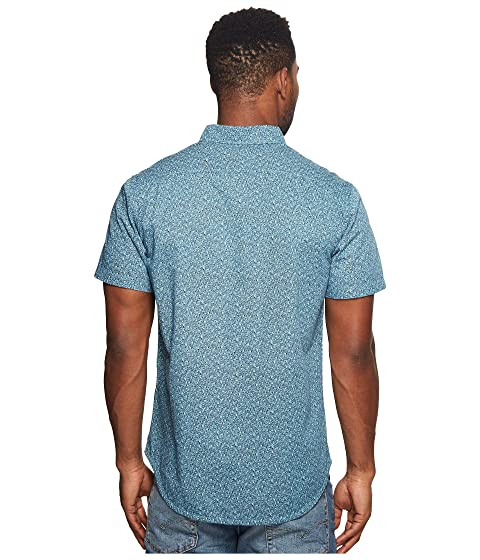 Printed VISSLA Sleeve Short Woven Mandurah Top q6BHOa