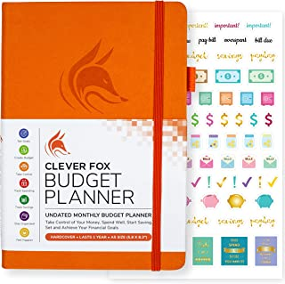 Clever Fox Budget Planner - Expense Tracker Notebook. Monthly Budgeting Journal, Finance Planner & Accounts Book to Take Control of Your Money. Undated - Start Anytime. A5 Size Orange Hardcover