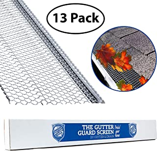 "Ultimate Gutter Guard by Gutter&Drain |Ridged Mesh for Extra Protection | Premium Anti-Leaf Gutter Cover Prevents Clogged Downspouts | Easy DIY Installation & Weatherproof Design | 5""(52FT)"