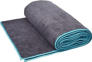 AmazonBasics Yoga Towel Durable and Soft (Machine Washable) Grey and Blue