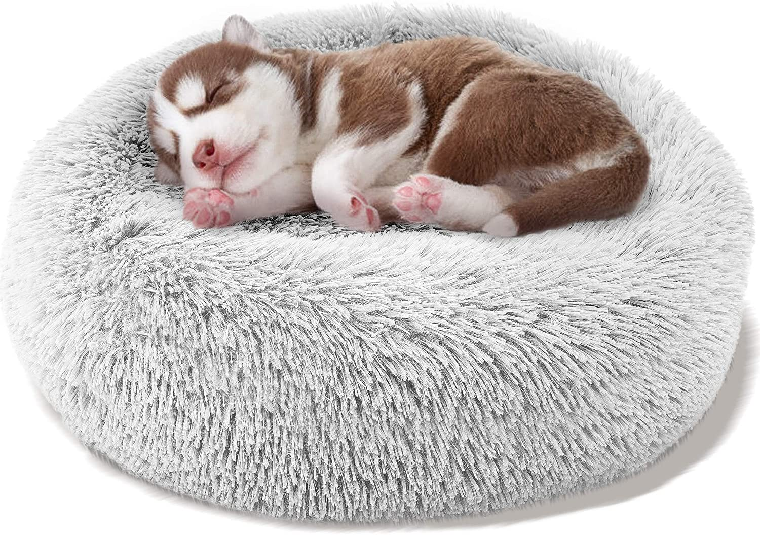 Donut Online limited product Dog Bed Faux Fur D Cushion Cat Cuddler Sale price Calming