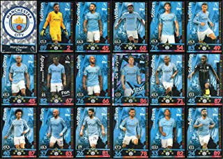 MATCH ATTAX 2018/19 18/19 Manchester City Full 18 Card Team Set - Man City