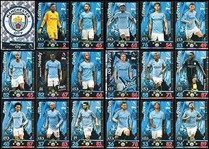 MATCH ATTAX 2018/19 18/19 Manchester City Full 18 Card Team Set - Man City