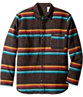 VISSLA Kids - Pennington Long Sleeve Reversible All Over Stripe Flannel (Big Kids)