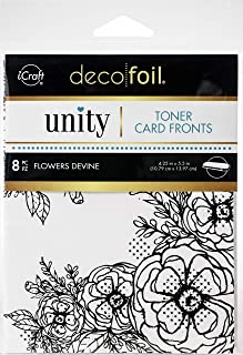 iCRAFT Toner Card Fronts FLW, Flowers Devine, One Size