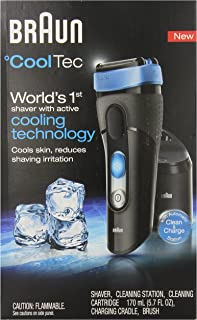 Braun CoolTec CT2CC Wet & Dry Cordless Shaver With Active Cooling Technology And Clean&Charge Station