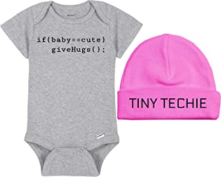 Coding Baby Onesie® / Beanie Set - if(baby==cute) giveHugs(); / Tiny Techie - C# Or Java Computer Tech Nerd Geek Bodysuit - Handmade Baby Bodysuit For Boys And Girls - Baby Shower Gift Idea…
