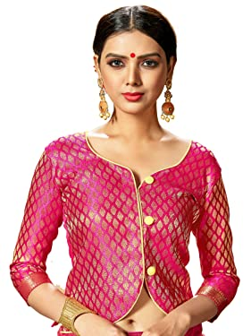 Women's Readymade Indian Designer Party Wear Bollywood Padded Blouse for Saree Crop Top Choli