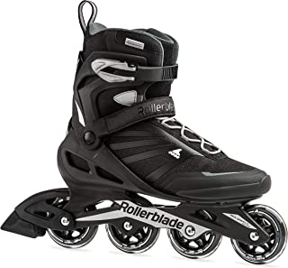 Rollerblade Zetrablade Men's Adult Fitness Inline Skate, Black and Silver,..