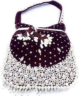 ADORA FASHION INDIAN HANDMADE CLUTCH BAG FOR WOMEN ADORA ACI 102 MAROON