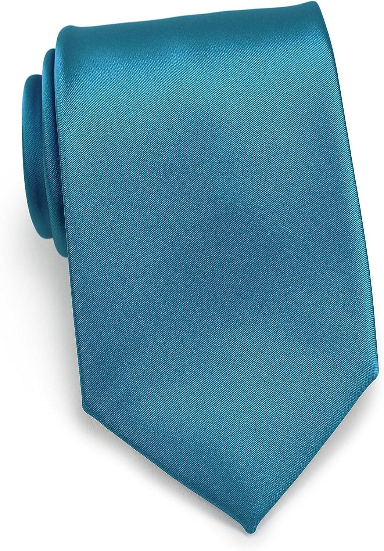 Bows-N-Ties Men's Extra Long Tie Solid Color Microfiber Satin XL Size Necktie 3.25 Inches