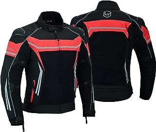 Motocicleta masculina com armadura de motocicleta com protetores de malha respirável à prova d'água com 7 protetores preto...