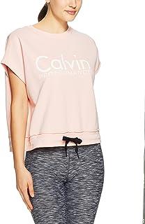 Calvin Klein Women's Cropped Short Sleeve Logo Sweatshirt