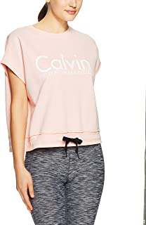 Calvin Klein Women's Cropped Short Sleeve Logo Sweatshirt