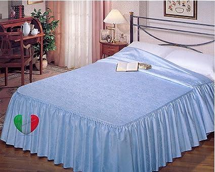 Copriletto Estivo Tessuto Jaquard Con Volant 3 Misure Panna Matrimoniale 270x280 Amazon It Casa E Cucina