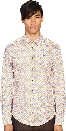 Printed Stretch Poplin Shirt
