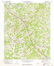 Historic Pictoric - North Carolina Maps - 1970 Climax, NC USGS - Topographic Wall Art : 24in x 30in