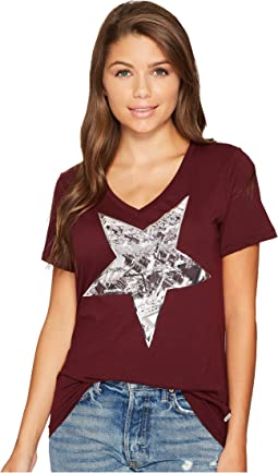 Converse - Metallic Star Photo Fill Short Sleeve Tee