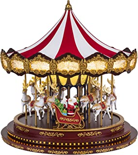 Mr. Christmas 19699 Deluxe Christmas Carousel Holiday Decoration, One Size, Multi