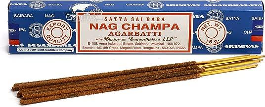 Origional Lot de 3 Paquets d'encens Satya Sai Baba Nag Champa Joss-Insense bâtons d'encens de 15 g Boite NagChampa Agarbatti