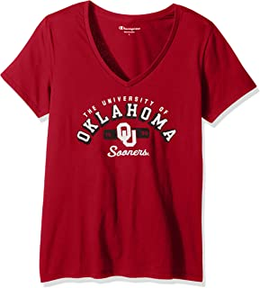Champion NCAA Women's University Short Sleeve Tagless V-Neck Tee