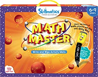 Skillmatics Educational Game : Math Master (6-9 Years) | Erasable and Reusable Activity Mats | Addition, Subtraction, Mult...